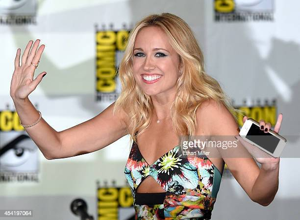 Actress Anna Camp attends HBO's 'True Blood' panel during ComicCon International 2014 at the San Diego Convention Center on July 26 2014 in San Diego...