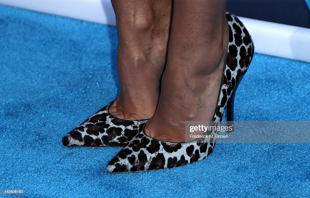 Actress Anna Camp (shoe detail) attends the 2014 Young Hollywood Awards brought to you by Samsung Galaxy at The Wiltern on July 27, 2014 in Los Angeles, California.