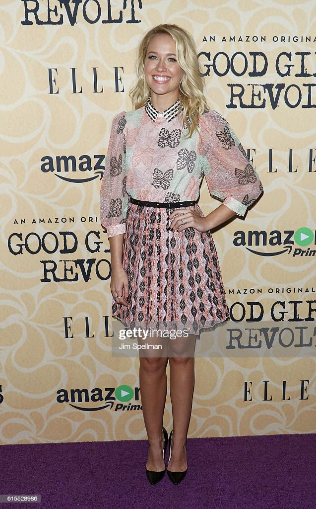 Actress Anna Camp attends the 'Good Girls Revolt' New York screening at the Joseph Urban Theater at Hearst Tower on October 18, 2016 in New York City.
