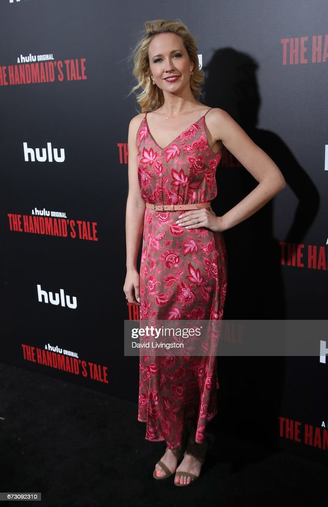 Actress Anna Camp attends the premiere of Hulu's 'The Handmaid's Tale' at ArcLight Cinemas Cinerama Dome on April 25, 2017 in Hollywood, California.