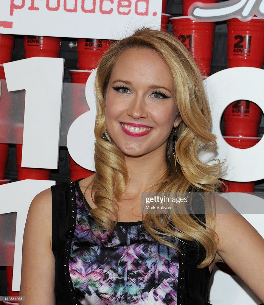 Actress <a gi-track='captionPersonalityLinkClicked' href=/galleries/search?phrase=Anna+Camp&family=editorial&specificpeople=3144642 ng-click='$event.stopPropagation()'>Anna Camp</a> attends the premiere of Relativity Media's '21 And Over' at Westwood Village on February 21, 2013 in Los Angeles, California.