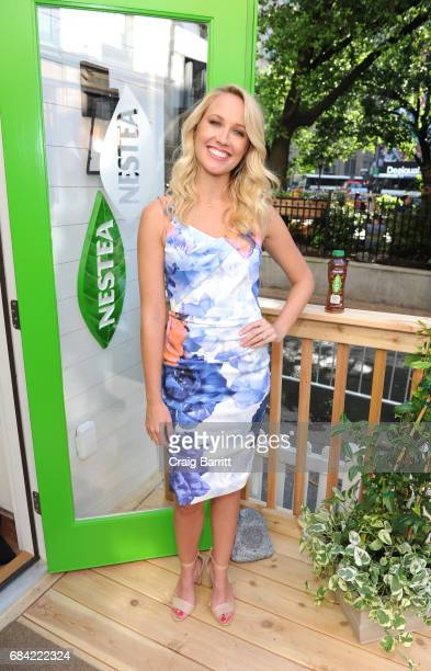 Actress Anna Camp launches the new NESTEA in Herald Square at the NESTEA Tiny House on May 17 2017 in New York City Designed in part by bloggers...
