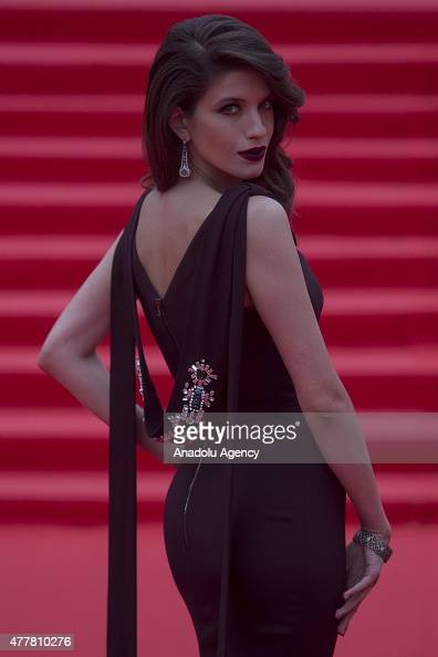 Actress Anna Chipovskaya is seen during at the opening ceremony of the 37th Moscow International Film Festival in Moscow Russia on June 2015