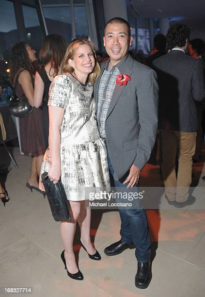 Actress Anna Chlumsky and husband Shaun So attend the Headstrong Project's first ever Words of War event at the IAC Building on May 8 2013 in New...