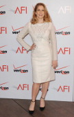 Actress Anna Chlumsky arrives at the 14th Annual AFI Awards at Four Seasons Hotel Los Angeles at Beverly Hills on January 10 2014 in Beverly Hills...