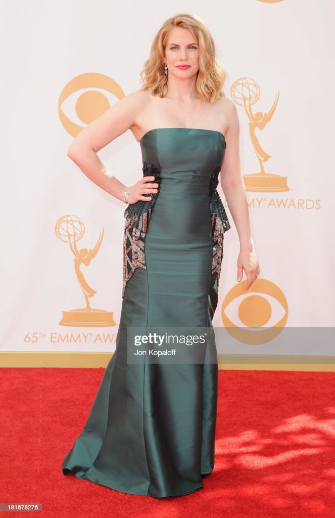 Actress Anna Chlumsky arrives at the 65th Annual Primetime Emmy Awards at Nokia Theatre L.A. Live on September 22, 2013 in Los Angeles, California.