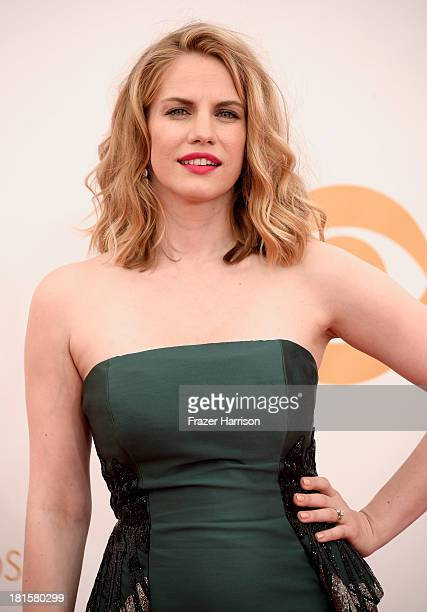 Actress Anna Chlumsky arrives at the 65th Annual Primetime Emmy Awards held at Nokia Theatre LA Live on September 22 2013 in Los Angeles California