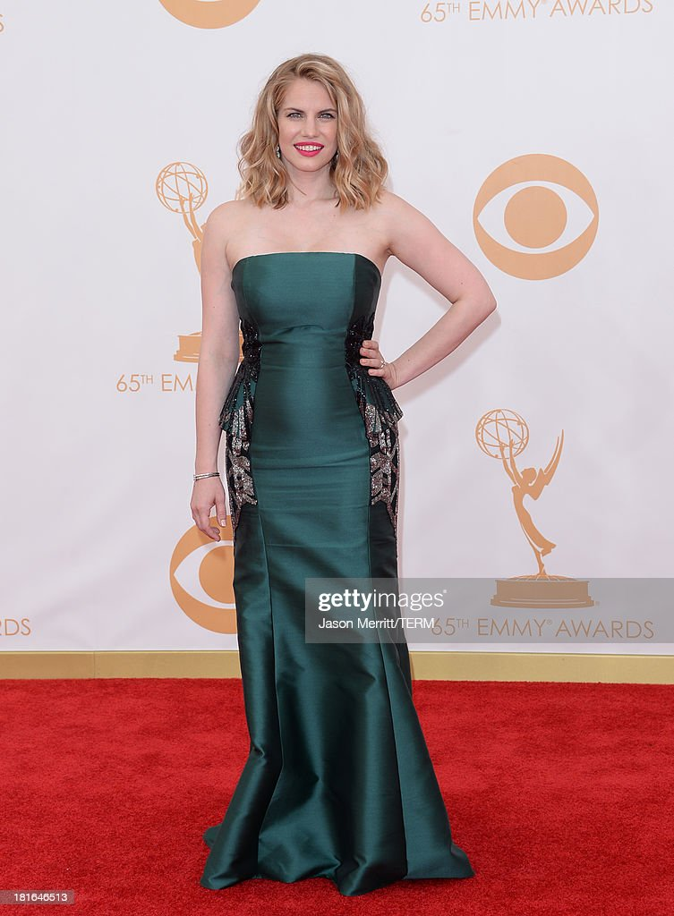 Actress Anna Chlumsky arrives at the 65th Annual Primetime Emmy Awards held at Nokia Theatre L.A. Live on September 22, 2013 in Los Angeles, California.