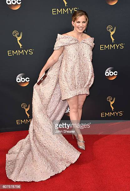 Actress Anna Chlumsky arrives at the 68th Annual Primetime Emmy Awards at Microsoft Theater on September 18 2016 in Los Angeles California