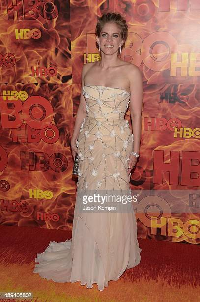 Actress Anna Chlumsky attends HBO's Official 2015 Emmy After Party at The Plaza at the Pacific Design Center on September 20 2015 in Los Angeles...