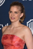 Actress Anna Chlumsky attends the 2014 InStyle And Warner Bros 71st Annual Golden Globe Awards PostParty held at The Beverly Hilton Hotel on January...