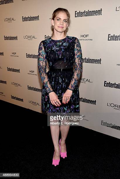 Actress Anna Chlumsky attends the 2015 Entertainment Weekly PreEmmy Party at Fig Olive Melrose Place on September 18 2015 in West Hollywood California