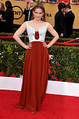 Actress Anna Chlumsky attends the 21st Annual Screen Actors Guild Awards at The Shrine Auditorium on January 25 2015 in Los Angeles California