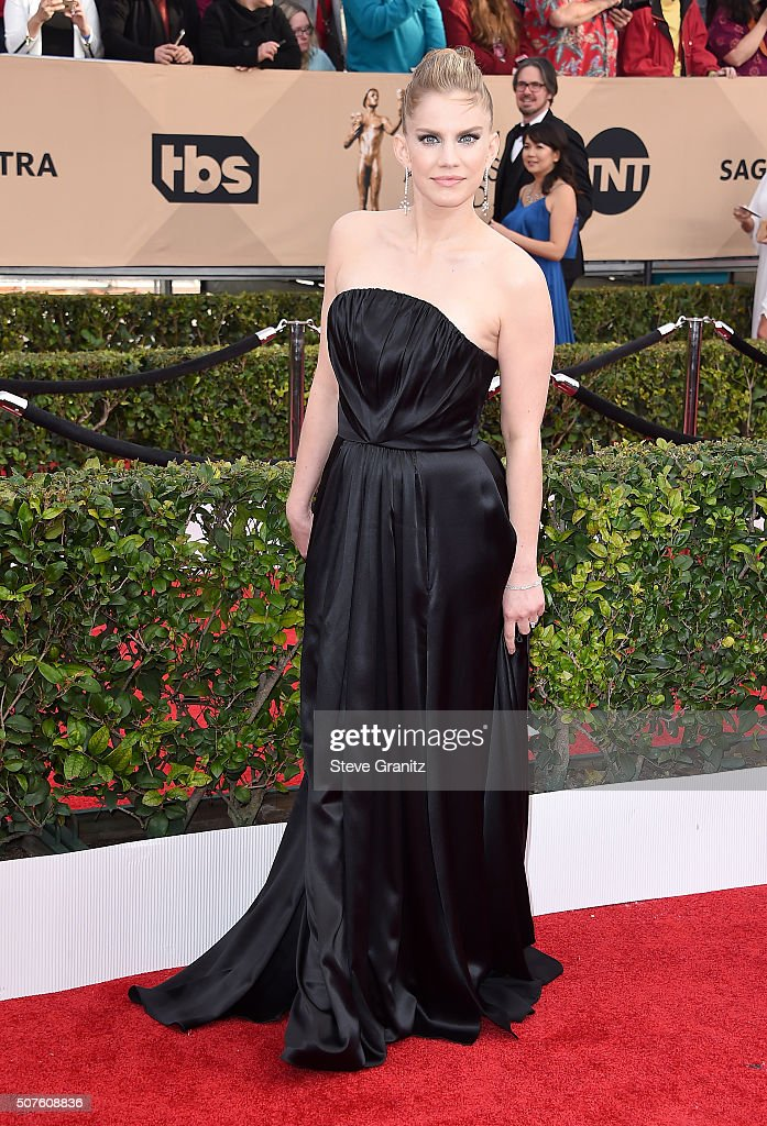 Actress Anna Chlumsky attends the 22nd Annual Screen Actors Guild Awards at The Shrine Auditorium on January 30 2016 in Los Angeles California