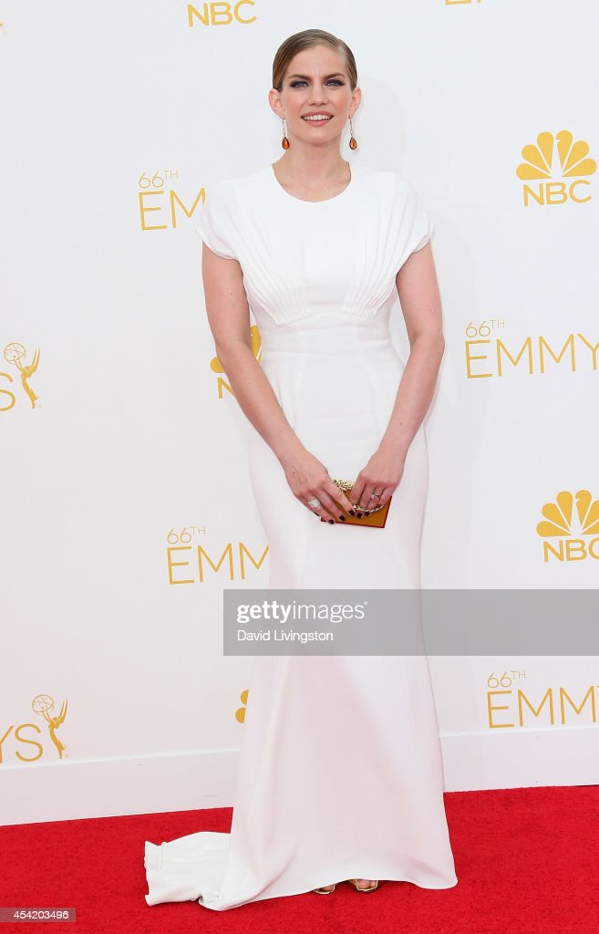 Actress Anna Chlumsky attends the 66th Annual Primetime Emmy Awards at the Nokia Theatre LA Live on August 25 2014 in Los Angeles California