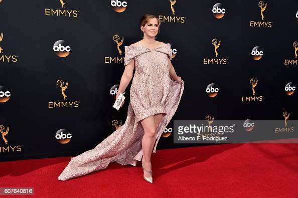 Actress Anna Chlumsky attends the 68th Annual Primetime Emmy Awards at Microsoft Theater on September 18 2016 in Los Angeles California