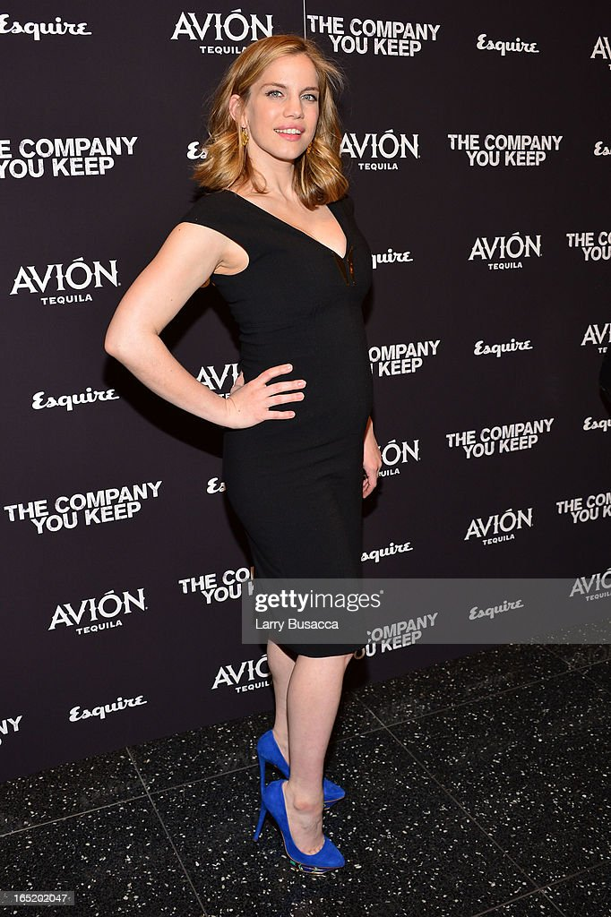 Actress Anna Chlumsky attends 'The Company You Keep' New York Premiere at The Museum of Modern Art on April 1 2013 in New York City