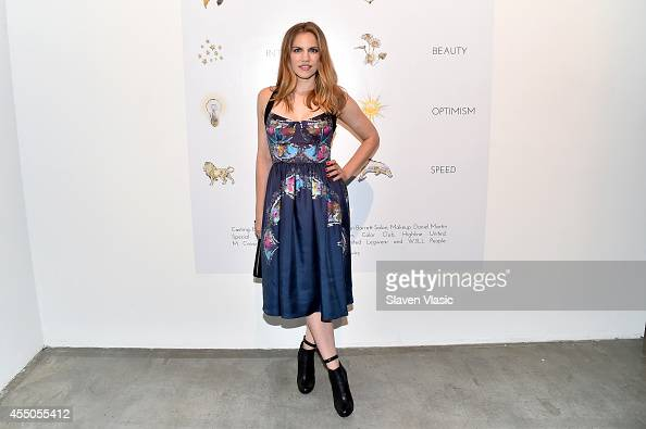 Actress Anna Chlumsky attends the Cynthia Rowley presentation during MercedesBenz Fashion Week Spring 2015 on September 9 2014 in New York City