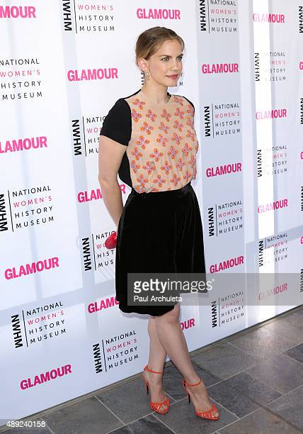 Actress Anna Chlumsky attends the National Women's History Museum's 4th annual 'Women Making History' brunch at Skirball Cultural Center on September...