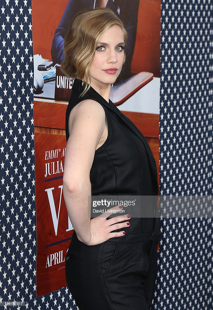 Actress Anna Chlumsky attends the premiere of HBO's 'VEEP' Season 2 at Paramount Studios on April 9, 2013 in Hollywood, California.