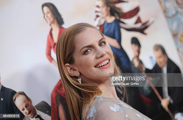 Actress Anna Chlumsky attends the premiere of HBO's 'Veep' Season 3 at Paramount Studios on March 24 2014 in Hollywood California