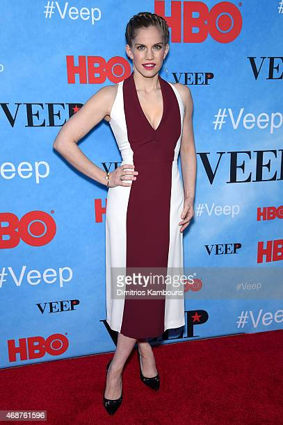 Actress Anna Chlumsky attends the 'VEEP' Season 4 New York Screening at the SVA Theater on April 6 2015 in New York City
