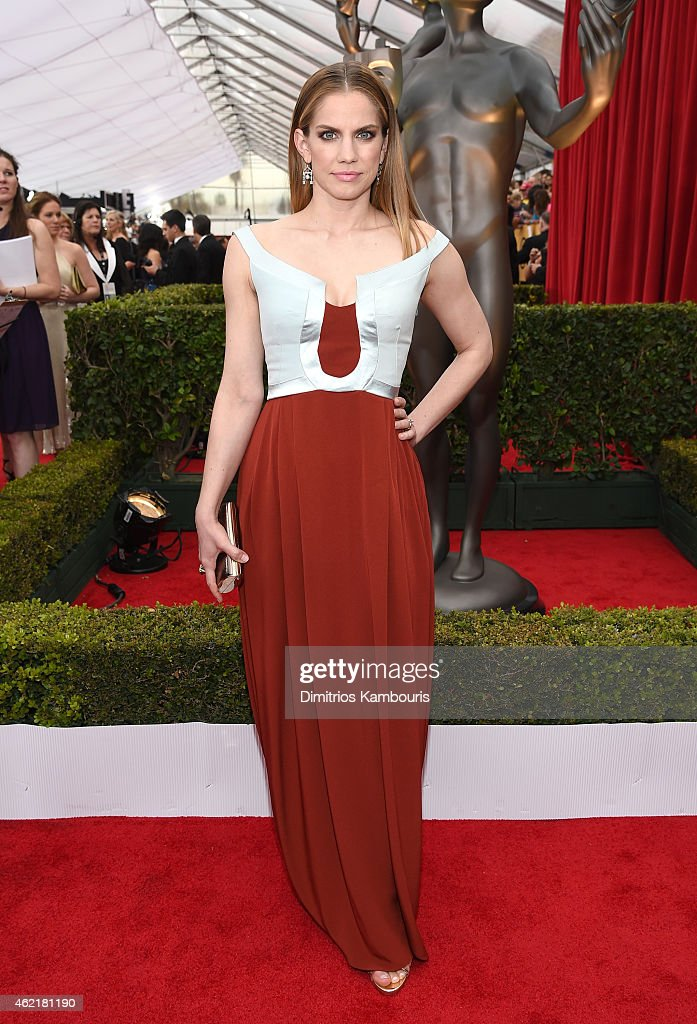 Actress Anna Chlumsky attends TNT's 21st Annual Screen Actors Guild Awards at The Shrine Auditorium on January 25 2015 in Los Angeles California...