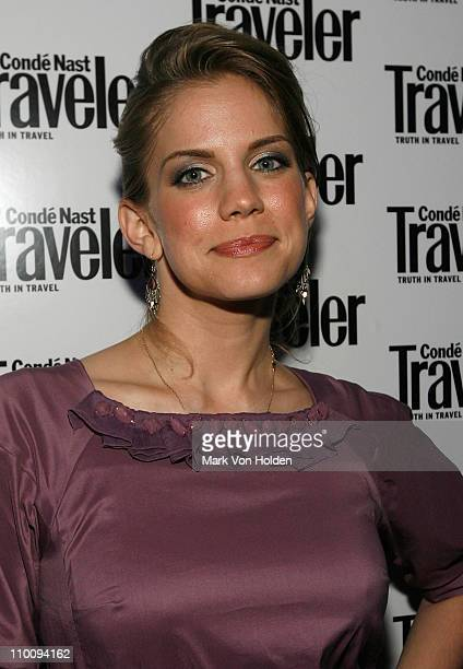 Actress Anna Chlumsky during the Conde Nast Traveler celebration of 20 Years of Truth in Travel at Cooper Hewitt National Design Museum on October 10...