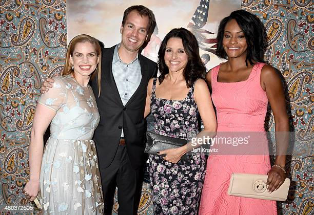 Actress Anna Chlumsky HBO Executive Vice President of Programming Casey Bloys actresses Julia LouisDreyfus and Sufe Bradshaw attend the 'VEEP' season...