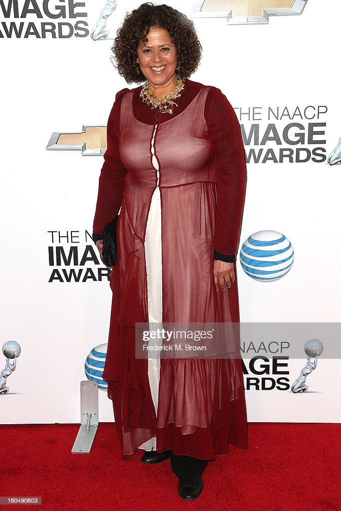 Actress Anna Deavere Smith arrives at the 44th NAACP Image Awards at The Shrine Auditorium on February 1, 2013 in Los Angeles, California.