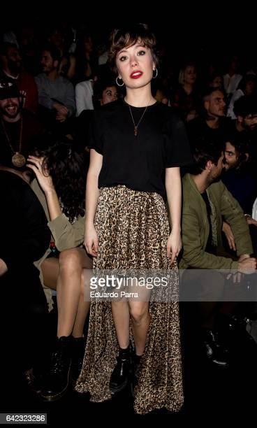 Actress Anna del Castillo attends the front row of Maya hansen show during Mercedes Benz Fashion Week Madrid Autumn / Winter 2017 at Ifema on...