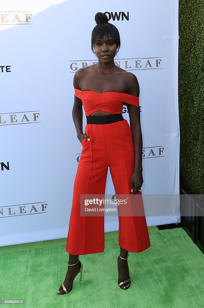 Actress Anna Diop attends the premiere of OWN's 'Greenleaf' at The Lot on June 15, 2016 in West Hollywood, California.