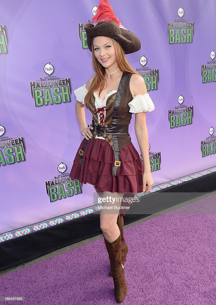 Actress Anna Easteden arrives at Hub Network's First Annual Halloween Bash at Barker Hangar on October 20, 2013 in Santa Monica, California.