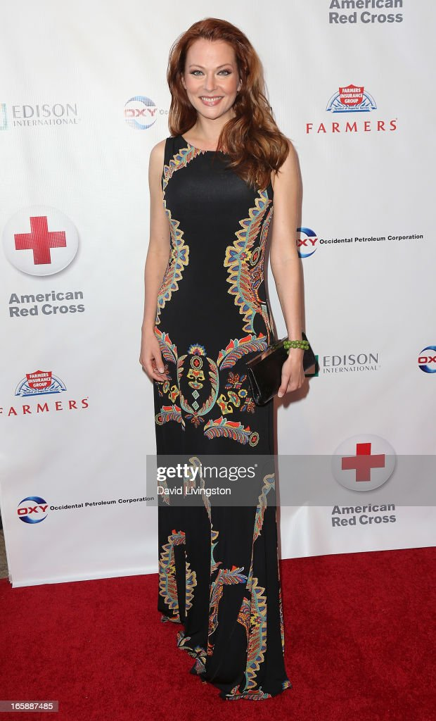 Actress Anna Easteden attends the 7th Annual American Red Cross Red Tie Affair at the Fairmont Miramar Hotel on April 6, 2013 in Santa Monica, California.