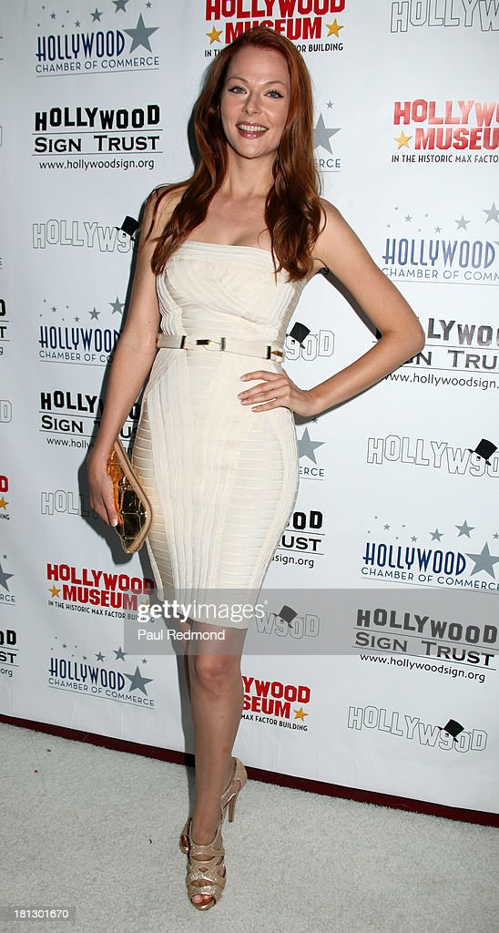 Actress Anna Easteden attends The Hollywood Chamber Of Commerce/The Hollywood Sign Trust's 'White Party' Celebrating 90th Anniversary Of The Hollywood Sign at Drai's Hollywood on September 19, 2013 in Hollywood, California.