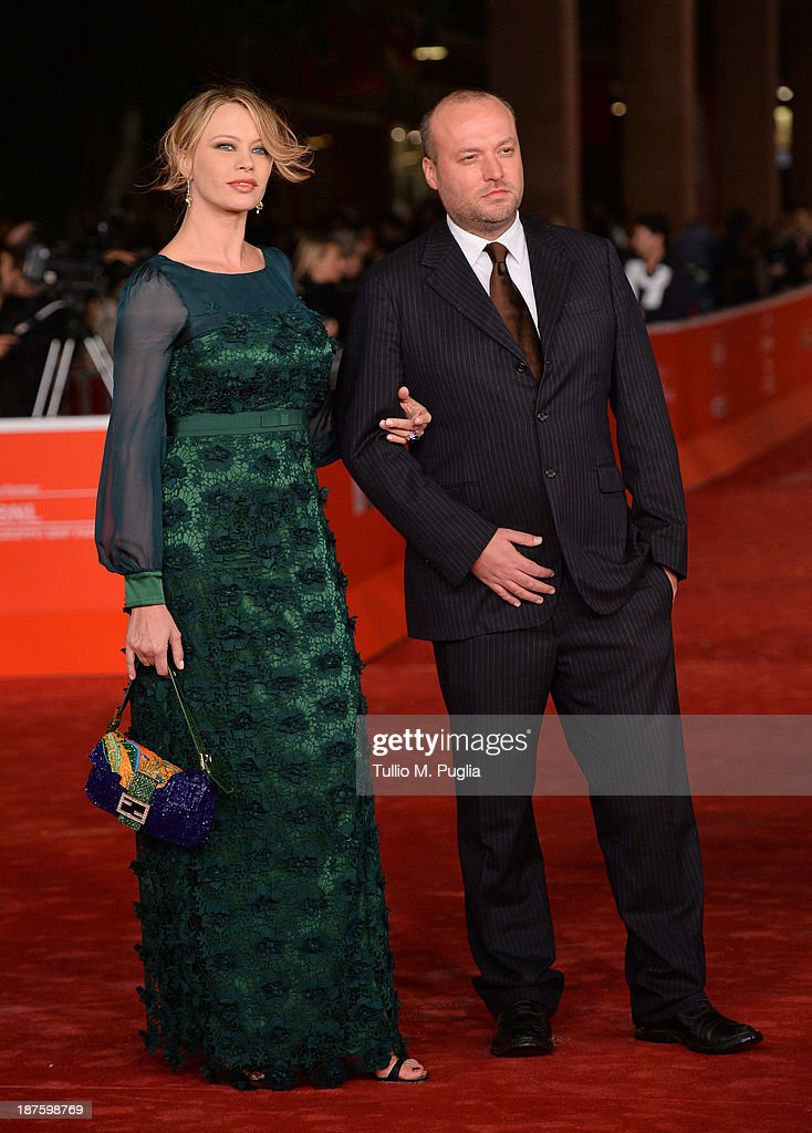 Actress Anna Falchi and Sauro Falchi attend 'Come Il Vento' Premiere during The 8th Rome Film Festival at Auditorium Parco Della Musica on November...