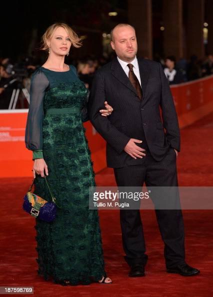 Actress Anna Falchi and Sauro Falchi attend 'Come Il Vento' Premiere during The 8th Rome Film Festival at Auditorium Parco Della Musica on November...