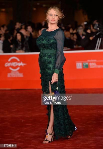 Actress Anna Falchi attends 'Come Il Vento' Premiere during The 8th Rome Film Festival at Auditorium Parco Della Musica on November 10 2013 in Rome...