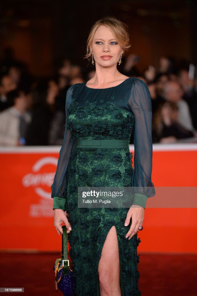 Actress Anna Falchi attends 'Come Il Vento' Premiere during The 8th Rome Film Festival at Auditorium Parco Della Musica on November 10 2013 in Rome...