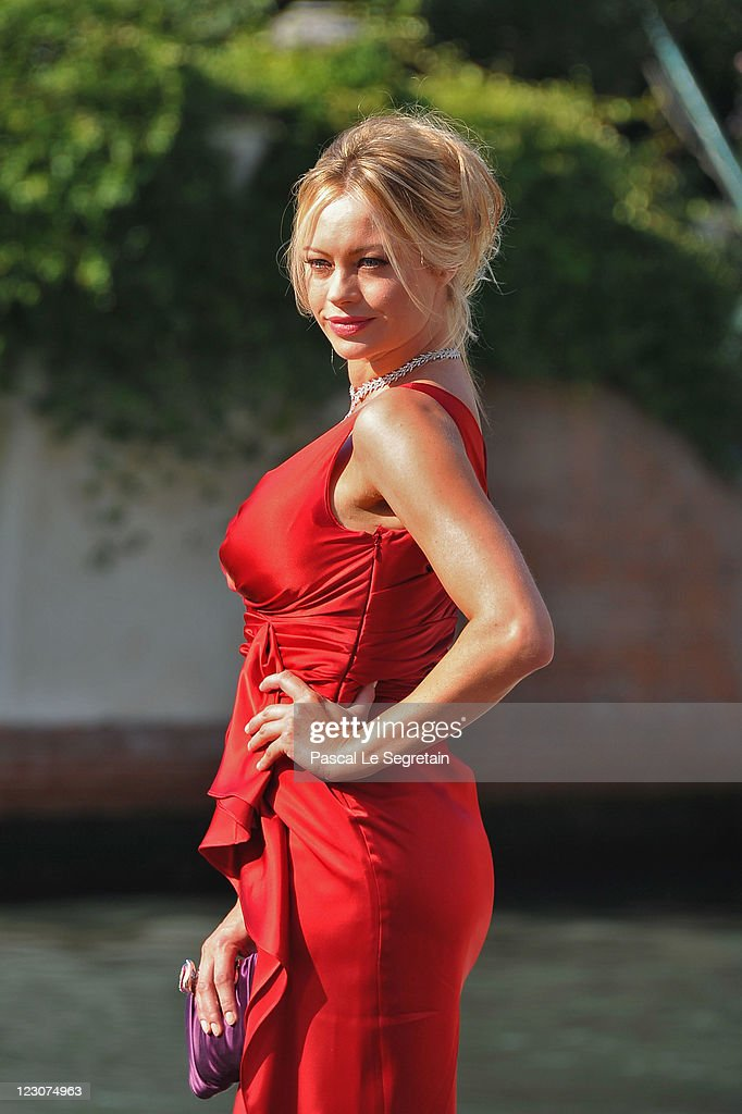 Actress Anna Falchi attends the 68th Venice Film Festival on August 30 2011 in Venice Italy