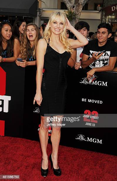 Actress Anna Faris arrives at the Los Angeles premiere of '22 Jump Street' at Regency Village Theatre on June 10 2014 in Westwood California