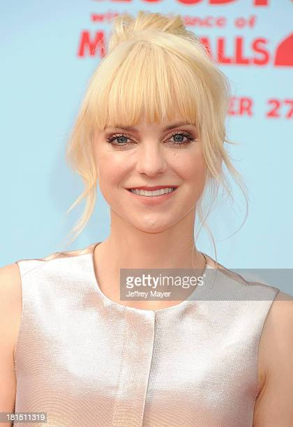 Actress Anna Faris arrives at the Los Angeles premiere of 'Cloudy With A Chance Of Meatballs 2' at the Regency Village Theatre on September 21 2013...
