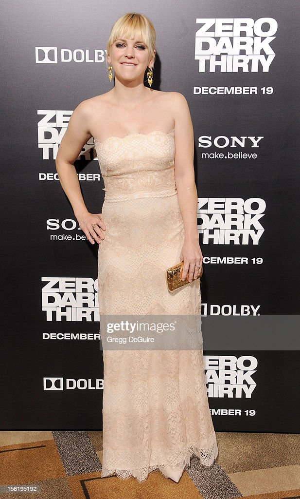 Actress Anna Faris arrives at the Los Angeles premiere of 'Zero Dark Thirty' at the Dolby Theatre on December 10, 2012 in Hollywood, California.