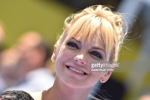 Actress Anna Faris arrives at the premiere of 'The Emoji Movie' at Regency Village Theatre on July 23 2017 in Westwood California