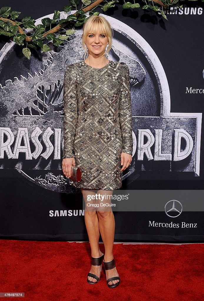Actress Anna Faris arrives at the World Premiere of 'Jurassic World' at Dolby Theatre on June 9 2015 in Hollywood California