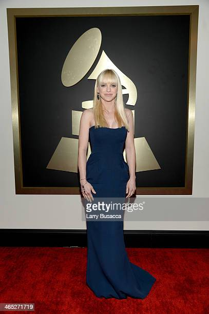 Actress Anna Faris attends the 56th GRAMMY Awards at Staples Center on January 26 2014 in Los Angeles California