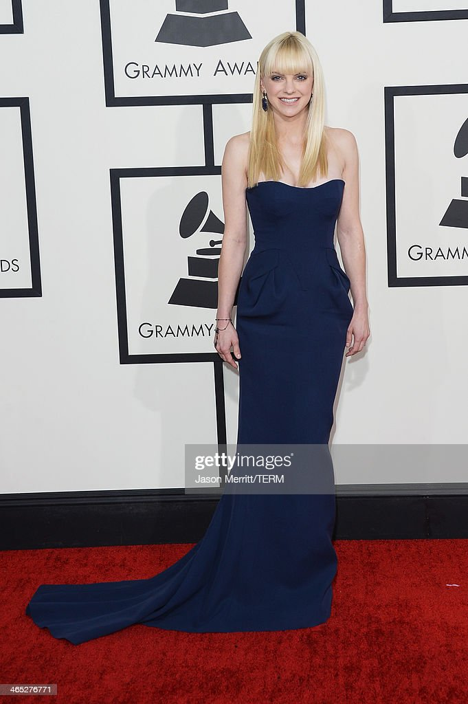 Actress Anna Faris attends the 56th GRAMMY Awards at Staples Center on January 26, 2014 in Los Angeles, California.