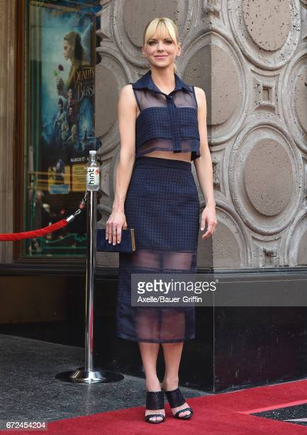 Actress Anna Faris attends the ceremony honoring Chris Pratt with a star on the Hollywood Walk of Fame on April 21 2017 in Hollywood California