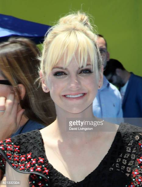 Actress Anna Faris attends the premiere of Columbia Pictures and Sony Pictures Animation's 'The Emoji Movie' at the Regency Village Theatre on July...