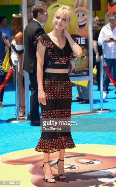 Actress Anna Faris attends the premiere of Columbia Pictures and Sony Pictures Animation's 'The Emoji Movie' at Regency Village Theatre on July 23...